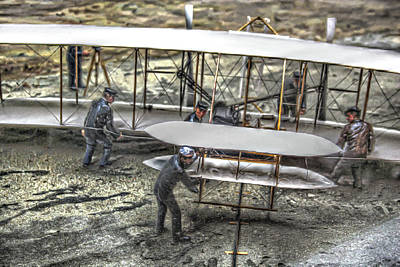 First Flight Wright Brothers Art Print by Randy Steele