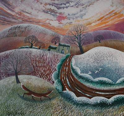 Winter Light Painting - First Flurry by Lisa Graa Jensen