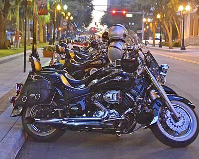 Photograph - First Friday Bike Night by Carol  Bradley
