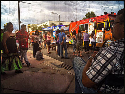 First Friday Photograph - First Friday Event On Santa Fe by Peggy Dietz