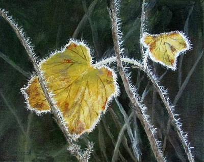 Wall Art - Painting - First Frost by Mary Arneson