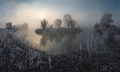 First Frost On The River Art Print