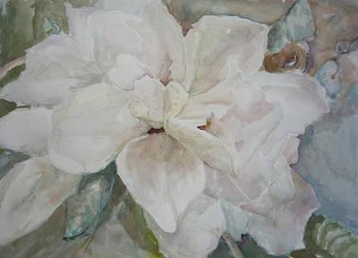 First Gardenia Art Print by Dorothy Herron