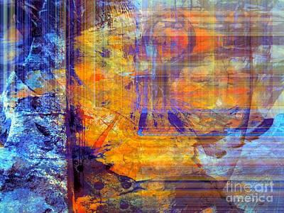 Abstract Sights Mixed Media - First Goree  Blues by Fania Simon