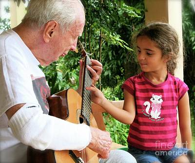 Photograph - First Guitar Lesson by The Art of Alice Terrill
