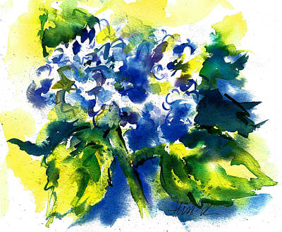 Painting - First Hydrangea by Jacki Kellum