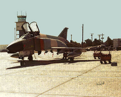 Print featuring the digital art First Jet by Walter Chamberlain
