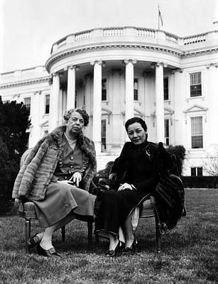 Ev-in Photograph - First Lady Eleanor Roosevelt, And Wife by Everett