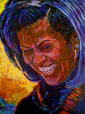 Obama Painting - First Lady Michele Obama by David Lloyd Glover