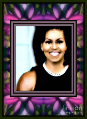 First Lady Mixed Media - First Lady Michele by Wbk