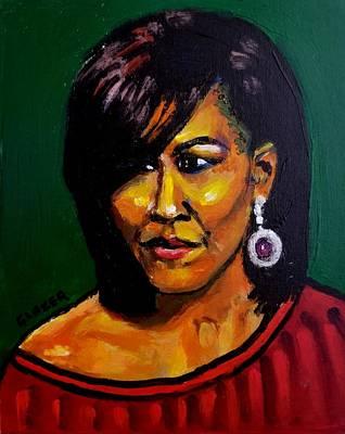 Wall Art - Painting - First Lady Michelle Obama 2008-2016 by Stuart Glazer
