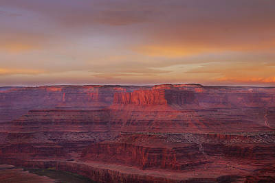 Photograph - First Light At Horseshoe Bend by Marie Leslie