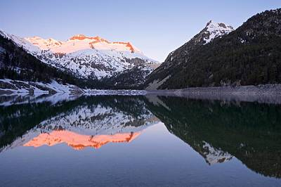 Photograph - First Light At Lac D'oredon by Stephen Taylor