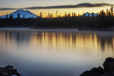 Photograph - First Light At Lava Lake by Cat Connor