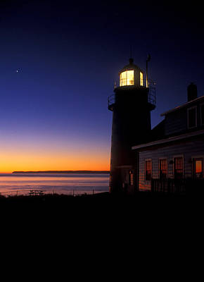 Quoddy Head State Park Photograph - First Light At Quoddy Head by John Burk