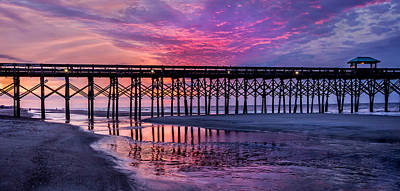 Photograph - First Light At The Pier by James Woody