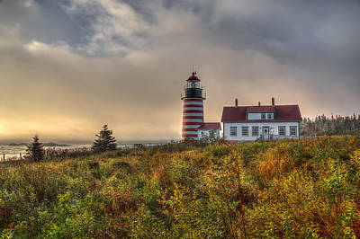 West Quoddy Head Lighthouse Photograph - First Light At West Quoddy by Tom Weisbrook
