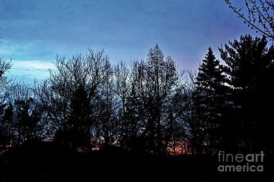 Frank J Casella Royalty-Free and Rights-Managed Images - First Light Blue by Frank J Casella