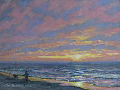 Painting - First Light - Golden Mile by Kathleen McDermott