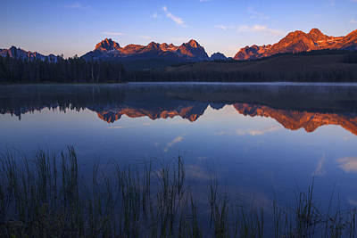 Photograph - First Light Illuminating Sawtooth Mountains Stanley Idaho by Vishwanath Bhat