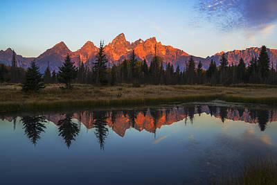 Photograph - First Light Illuminating Tetons Mountain Range by Vishwanath Bhat