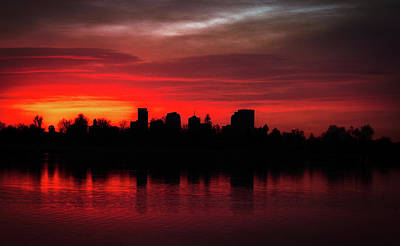 Photograph - First Light In Denver by Kevin Schwalbe