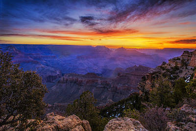 First Light In The Canyon Art Print