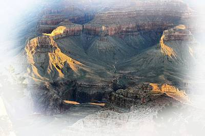 Photograph - First Light Morning Mist Grand Canyon by Nadalyn Larsen