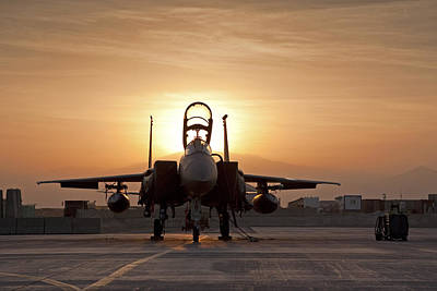 F-15 Photograph - First Light On A Fighter by Tim Grams