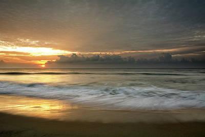 Carolina Beach Photograph - First Light On Carolina Beach by Greg Mimbs