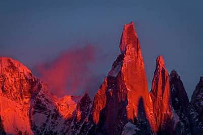 Photograph - First Light On Cerro Torre - Patagonia by Stuart Litoff