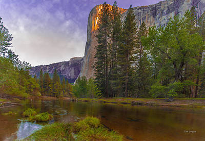 Photograph - First Light On El Capitan by Tim Bryan