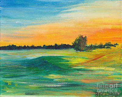 Golf Painting - First Light On First Tee by Samuel Beckman