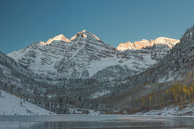Photograph - First Light On Maroon Bells 2 by Jemmy Archer