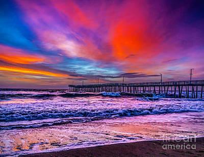 Photograph - First Light On The Beach by Nick Zelinsky