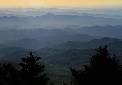 Photograph - First Light On The Blue Ridge Parkway by Dan Sproul