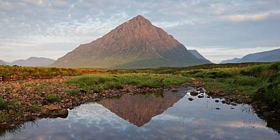 Photograph - First Light On The River Etive by Stephen Taylor