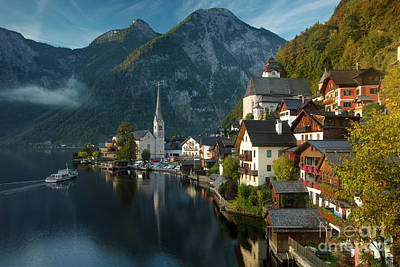 Photograph - First Light Over Hallstatt by Brian Jannsen
