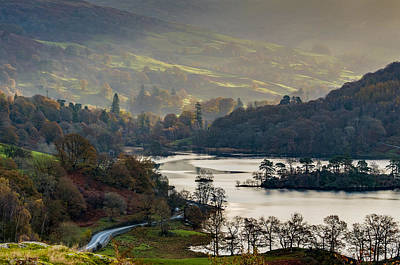 Photograph - First Light Over Rydal Water In The Lake District by Neil Alexander