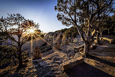Photograph - First Light Over Yavapai by Eduard Moldoveanu