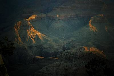 Photograph - First Light South Rim Grand Canyon by Nadalyn Larsen