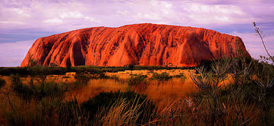 Photograph - First Light - Uluru, Australia by Lexa Harpell