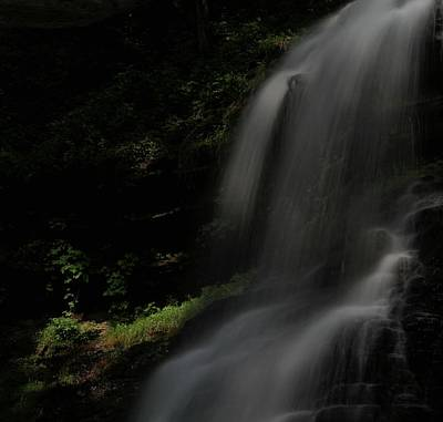 Photograph - First Light Waterfall by Dan Sproul