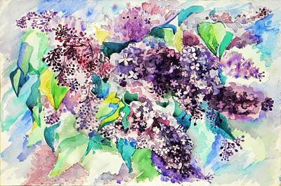 First Lilac. Art Print by Anastasia Michaels