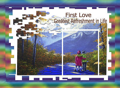 Painting - First Love Greatest Refreshment In Life by Saeed Hojjati