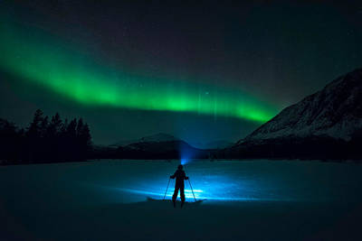 Skiing Photograph - First Love by Tor-Ivar Naess