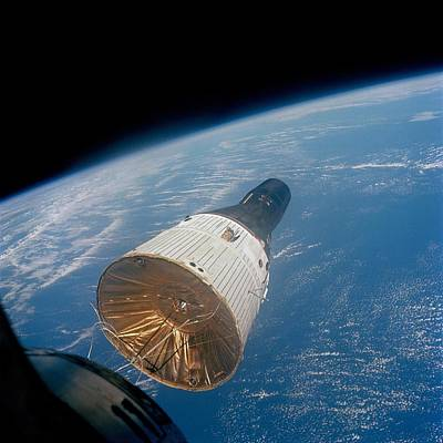 First Manned Space Rendezvous. Gemini 7 Art Print