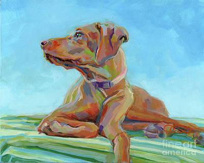 Vizsla Painting - First Mate by Kimberly Santini