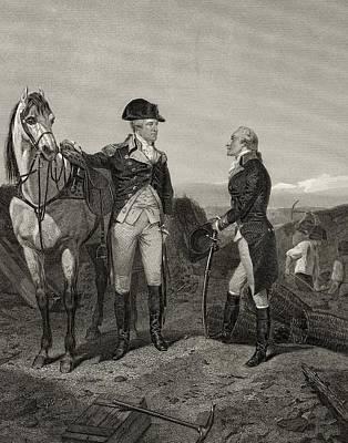 First Meeting Of George Washington 1732 Art Print by Vintage Design Pics