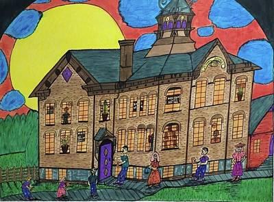 First Menominee High School. Art Print